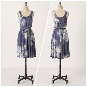 Anthropologie C Keer shifting feathers dress XS